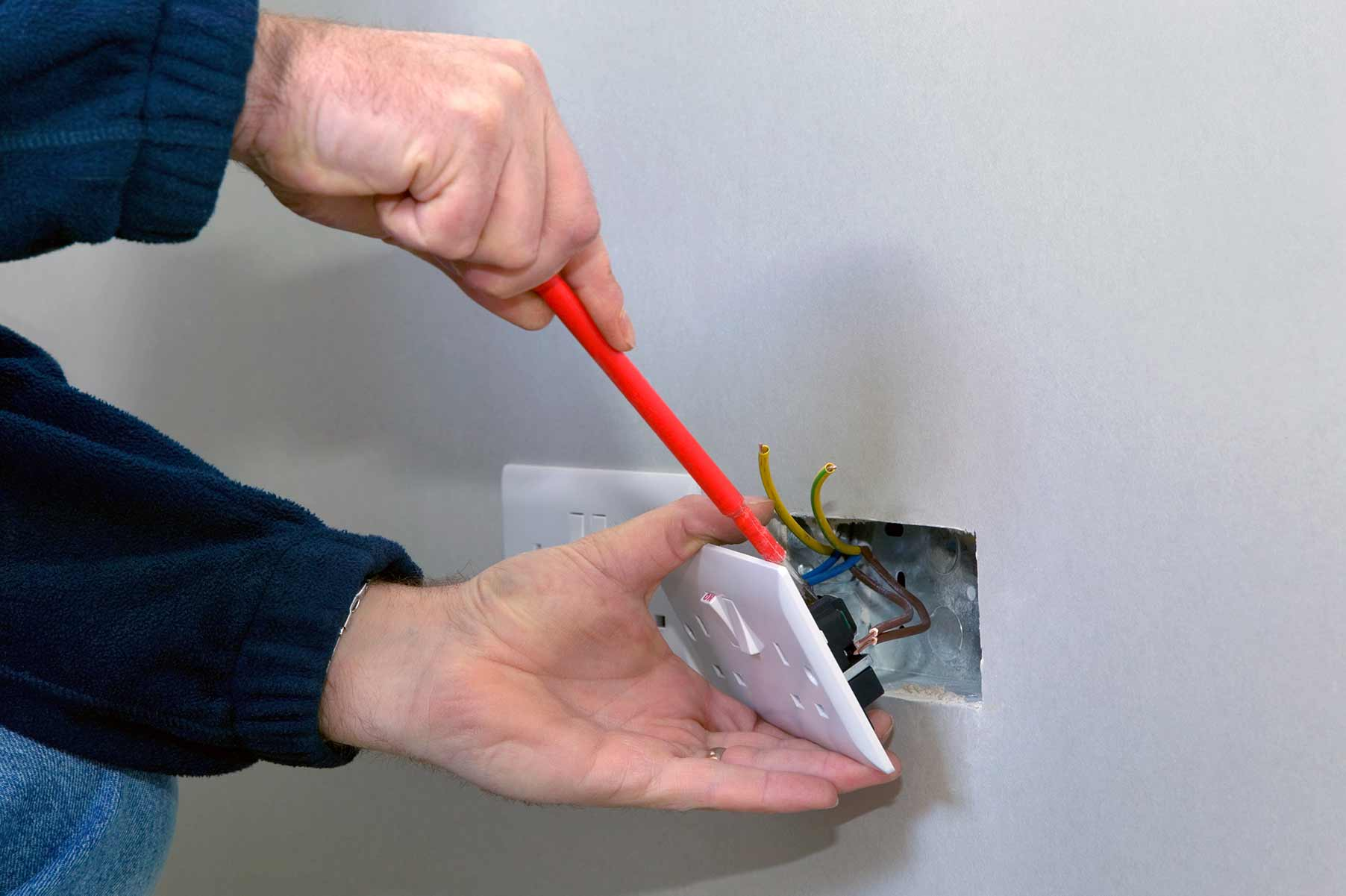 Our electricians can install plug sockets for domestic and commercial proeprties in Acton and the local area.